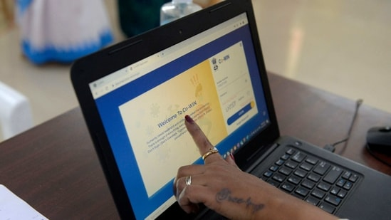 The Co-WIN app is meant to facilitate real-time information of vaccine stocks, storage temperature and individualised tracking of beneficiaries, besides assisting programme managers across national, state, and district levels.(AFP)