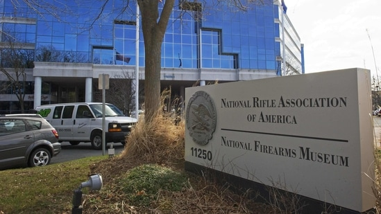 The National Rifle Association (NRA) headquarters in Fairfax, Virginia.(AFP)