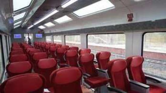Vistadome coaches have larger windows than normal coaches which gives passengers a bigger viewing area. It also has a mostly transparent roof.(Twitter.com/Narendramodi)