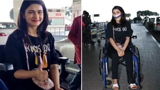 Prachi Desai was spotted at Mumbai airport.(Varinder Chawla)