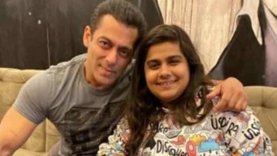 Salman Khan with Pista Dhakad.