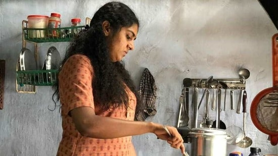 Nimisha Sajayan plays the lead in The Great Indian Kitchen.