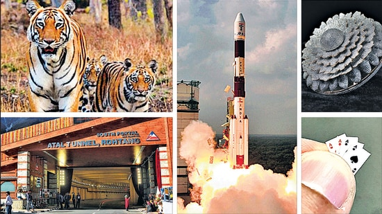 India currently holds the record for world's longest high-altitude tunnel, cheapest successful mission to Mars and largest camera trap wildlife survey, among other things. Indians hold the records for most diamonds on a single ring and smallest deck of playing cards, among many, many others. (IMAGES: HT Archive, Renani Jewels)