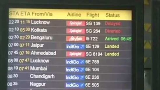 Flight and train services were disrupted on Saturday morning owing to dense fog in Delhi. (Photo: ANI)