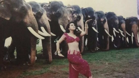 Preity Zinta in a still from Dil Se song Jiya Jale.
