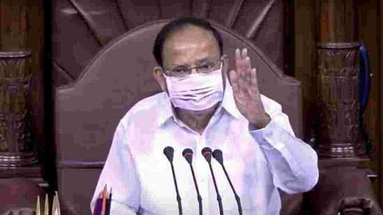 Rajya Sabha chairman M Venkaiah Naidu regularly urges the members of the House to speak in their mother tongue. (ANI)