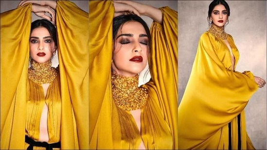 Sonam Kapoor Ahuja flaunts a sensual silhouette in sultry Stephane Rolland gown(Instagram/sonamkapoor)