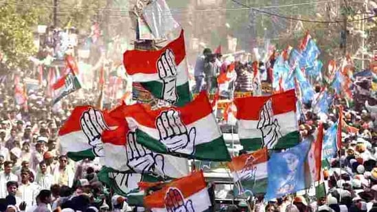 Congress flags waves at rallies