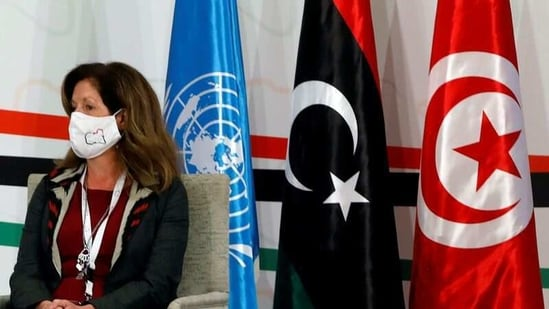 UN acting envoy for Libya Stephanie Williams attends the Libyan Political Dialogue Forum in Tunis, Tunisia.(Reuters/ File photo)