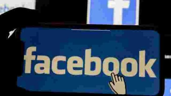 The Facebook logo is displayed on a mobile phone.(Reuters/ File photo)
