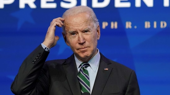 US President-elect Joe Biden at his transition headquarters in Wilmington, Delaware, US on January 16, 2021.(Reuters Photo )