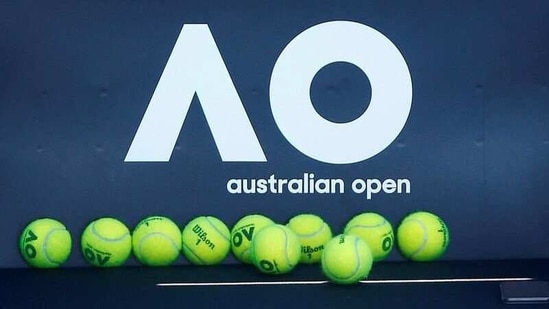 FILE PHOTO: Tennis balls are pictured in front of the Australian Open logo.(REUTERS)
