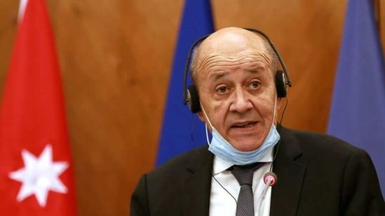 French Foreign Affairs Minister Jean-Yves Le Drian speaks during a news conference in Amman, Jordan, September 24, 2020.(File Photo / REUTERS)