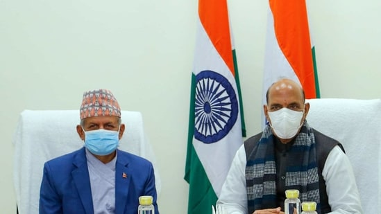 Due to the PM's prior commitments Nepalese foreign minister Pradeep Gyawali was received by defence minister Rajnath Singh, who is number two in the Modi government.(ANI)