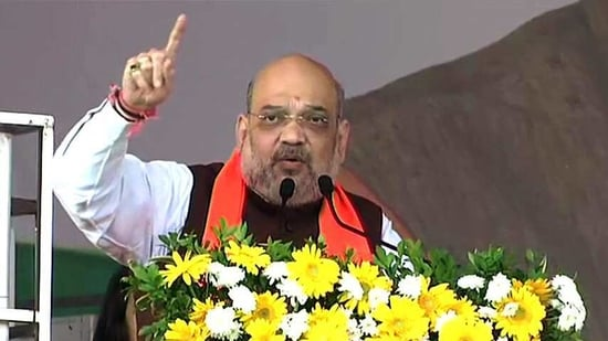 Shah encouraged people to get vaccinated in order to stop the spread of Covid-19 and not pay attention to rumours related to the vaccine.(ANI Photo)