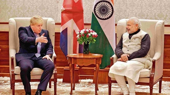 """""""Our prime ministers speak regularly and Prime Minister Johnson has said he will visit India ahead of the G7"""", said a statement by the British high commission.(MINT_PRINT)"""