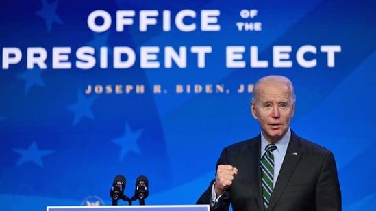 US President-elect Joe Biden at The Queen theater in Wilmington, Delaware.(AP)