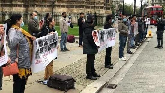 Sindhi Baloch Forum holds anti-Pak protest outside UK Parliament(ANI/ File photo)