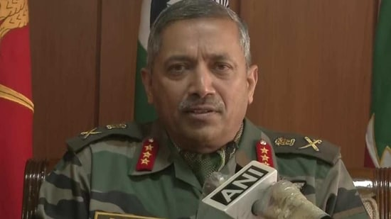 Lieutenant General BS Raju, GOC, Chinar Corps.(ANI Photo)