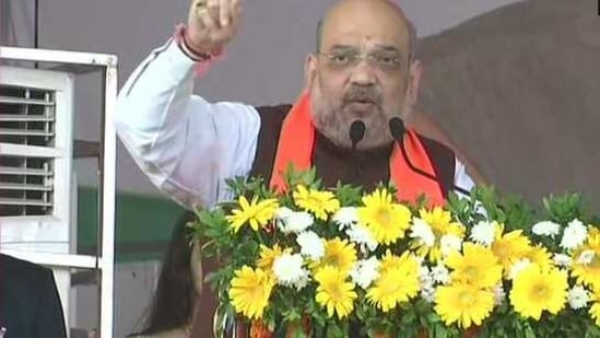 Amit Shah said the Narendra Modi government is committed to working for the welfare of the farmers.(ANI/Twitter)