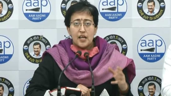 "AAP's MLA Atishi said, ""Aarti Yadav, along with former councillor from the same ward, Anil Yadav, have joined the AAP. We welcome them. Several leaders of the BJP are fed up with the corruption of the BJP-ruled MCDs. To contribute towards development-centric politics, they are joining the AAP.""(Screengrab)"