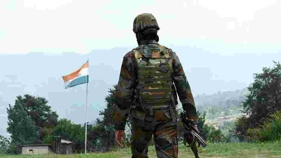 File photo: Army soldier patrol near Line of Control (LoC) at Poonch.(ANI)