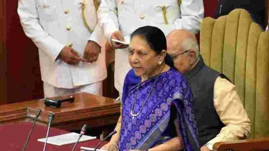Uttar Pradesh Governor Anandiben Patel.(HT Photo)
