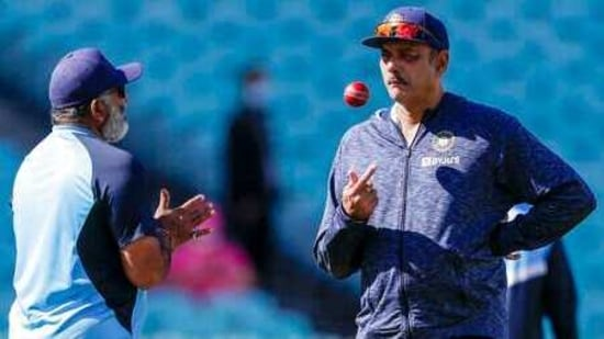 Indian team coach Ravi Shastri,(AP)
