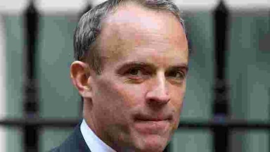 """What we want to do is get out of this national lockdown as soon as possible,"" Raab told Sky News television.(REUTERS)"