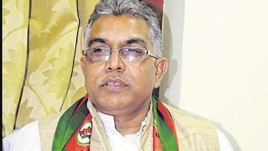 President of BJP's Bengal unit Dilip Ghosh.(HT File Photo)