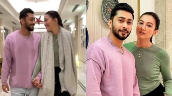 Gauahar Khan slays comfy athleisure look(Instagram/gauaharkhan)