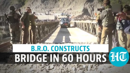 The Border Roads Organisation (BRO) finished the construction of a 110-feet bailey bridge
