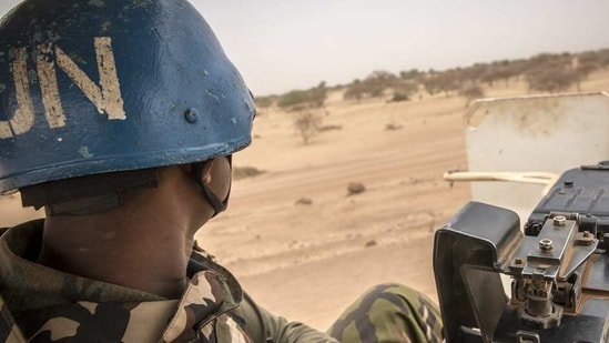MINUSMA peacekeepers on patrol in northern Mali.(Image via Twitter)