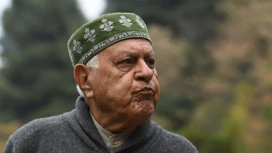 Abdullah, a former chief minister of Jammu and Kashmir, said that when his daughter sees photos of him not wearing a mask, she takes him to task on his return home.(AFP file)