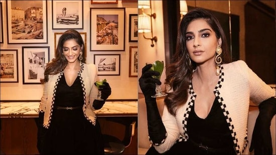 Sonam Kapoor's sizzling look in black velvet dress is date night fashion inspo(Instagram/sonamkapoor)