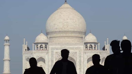 The livelihood of people who are dependent on the Taj Mahal has also hit hard.(PTI)