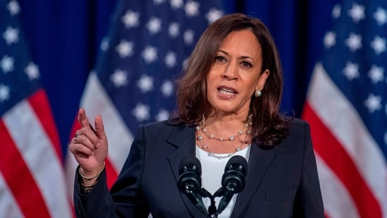 """She [Harris] has a voice in all of those. She has an opinion in all those areas,"" Harris' chief spokeswoman Symone Sanders.(AFP)"