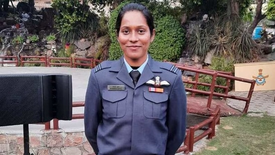 Flight lieutenant Bhawana Kanth is one of the first women fighter pilots in the Indian Air Force (IAF). (HT )