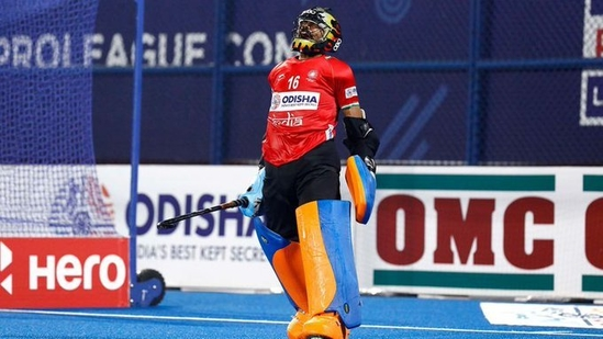 Photo of Indian men's hockey team goalkeeper PR Sreejesh(The Hockey India/Twitter)