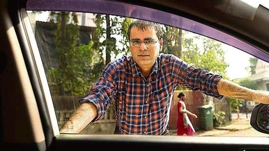 App-based cab driver Vijay N says fuel prices should be brought down.( Satish Bate/HT )