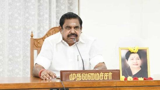 File photo of Tamil Nadu chief minister Edappadi Palaniswami.(Twitter/@CMOTamilNadu)