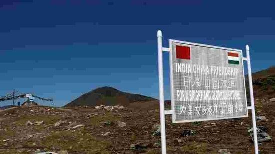 The Indo-China border at Bumla in Arunachal Pradesh.(REUTERS)