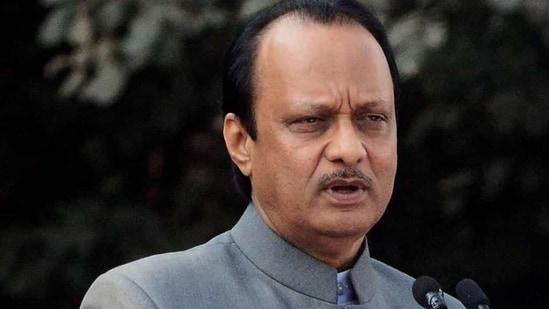 """""""As per inputs, the results of Gram Panchayat elections are good and are in favour of the MVA,"""" Ajit Pawar said.(HT Photo)"""