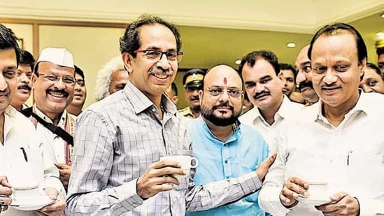 """Deputy chief minister and NCP leader Ajit Pawar said, """"The voters voted in favour of the MVA. Ruling parties fought in cooperation and it resulted in the combined victory.""""(HT File Photo)"""