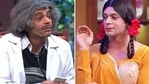 Sunil Grover as Dr Mashoor Gulati (L) and Gutthi
