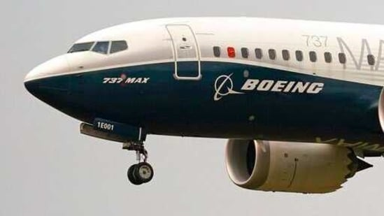 A Boeing 737 Max jet, piloted by Federal Aviation Administration (FAA) chief Steve Dickson, prepares to land following a test flight in Seattle.(File Photo / AP)