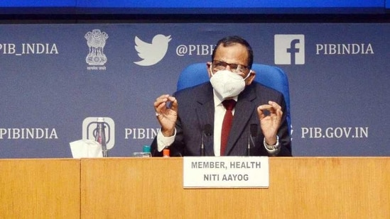 """NITI Aayog member (health) Dr V K Paul stated that concerns about adverse effects, as of now, seem to be """"unfounded, negligible and insignificant"""" and the data shows that """"we are in a situation of lot of comfort"""".(PTI )"""