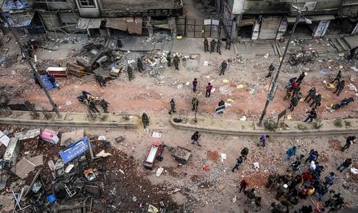 Communal violence had broken out in northeast Delhi on February 24 last year after clashes between citizenship law supporters and protesters spiraled out of control leaving at least 53 people dead and around 200 injured.(AFP)