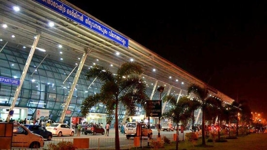 """""""There is no reason to sell this airport, but just to help the businessman. AAI has been giving crores of tax to the GoI,"""" they said. In picture - Thiruvananthapuram airport.(Facebook/Trivandrum Airport)"""