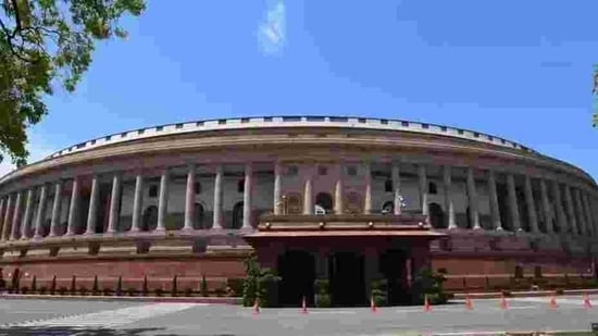 Parliament authorities will ensure maximum protection for members and officials, including a blanket ban on visitors, strict social distancing and the use of masks and other measures.(HT PHOTO.)